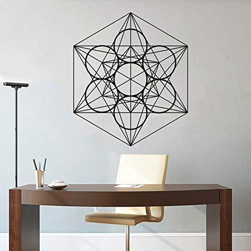 Einfachen Stil Muster Wandaufkleber Cube Vinyl Wandbild Home Office Dekoration Geometrische Design Linie Wandkunst Aufkleber H630 lila 57x67 cm - Lila Krokodil-design