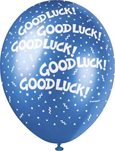 s 30,5cm Perlglanzeffekt Latex Ballons, viel Glück sortiert 5Stück (Partei Dekorationen Für Den Ruhestand)