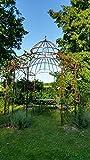 KUHEIGA STABILER Pavillon Rosenspalier Pergola Rost Ø340cm