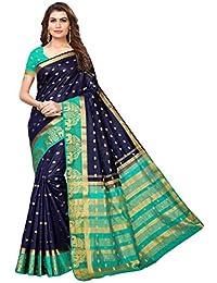 Anni Designer Silk with Blouse Piece Saree (AD Jindgi Colorful_Navy Blue_FS)