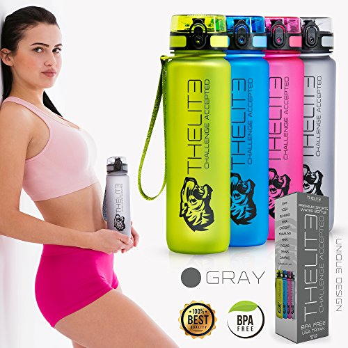 500ml-grey-bpa-freie-trinkflaschen-thelite-best-sports-water-bottle-us-tritan-top-premium-quality-no