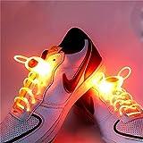 Ruanyi 1 Paar 80 cm Glow Schnürsenkel LED Sport Schnürsenkel Glow Stick Blinkt Neon Leuchtend Schnürsenkel Orange Led