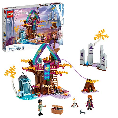 LEGO 41164 Disney Frozen II Enchanted Treehouse with Princess Anna, Olaf and Mattias, 2 Bunny Rabbits and Fish Animal Figures, Forest Adventures Sets for Girls and Boys 6+ Years Old, Multicolour Best Price and Cheapest