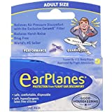 Ear Plugs - Airplane Travel Ear Protection And Pain Reliever (3-Pair - Adult)