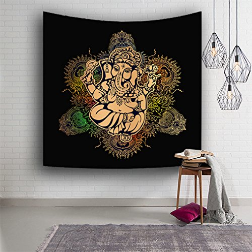 Gudoqi elefante mandala meditare arazzo attaccatura dormitorio decor poliestere per camera da letto telo mare tovaglia