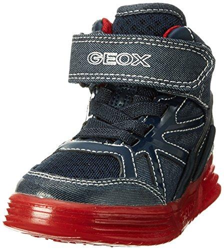 Geox J Argonat B, Scarpe da Ginnastica Alte Bambino, Blu (Navy/redc0735), 38 EU