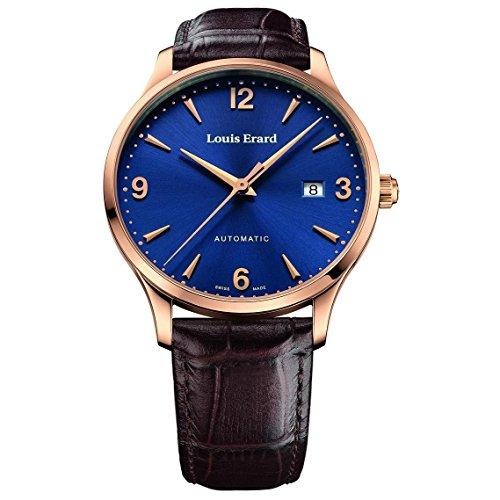 Louis Erard 1931 Homme 40mm Bracelet Cuir Marron Saphire Automatique Cadran Bleu Montre 69219PR15.BRC80