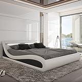 Innocent Polsterbett Kunstleder mit LED-Beleuchtung Paladium schwarz/weiß, 200x200 cm