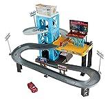 Playset Garage MOTORIZZATO Pista Piston Cup Cars con Auto Saetta McQueen Originale Mattel