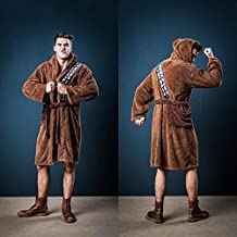 Star Wars Chewbacca Wookie albornoz muy suaves, con cinturón de energía, bolsillo canguro, capucha, de color marrón