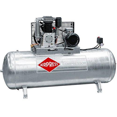 Airpress® ölgeschmierter Druckluft-Kompressor GK 1000-500 (5,5 kW, 11 bar,500l Kessel, 400 Volt) großer Kolben-Kompresso