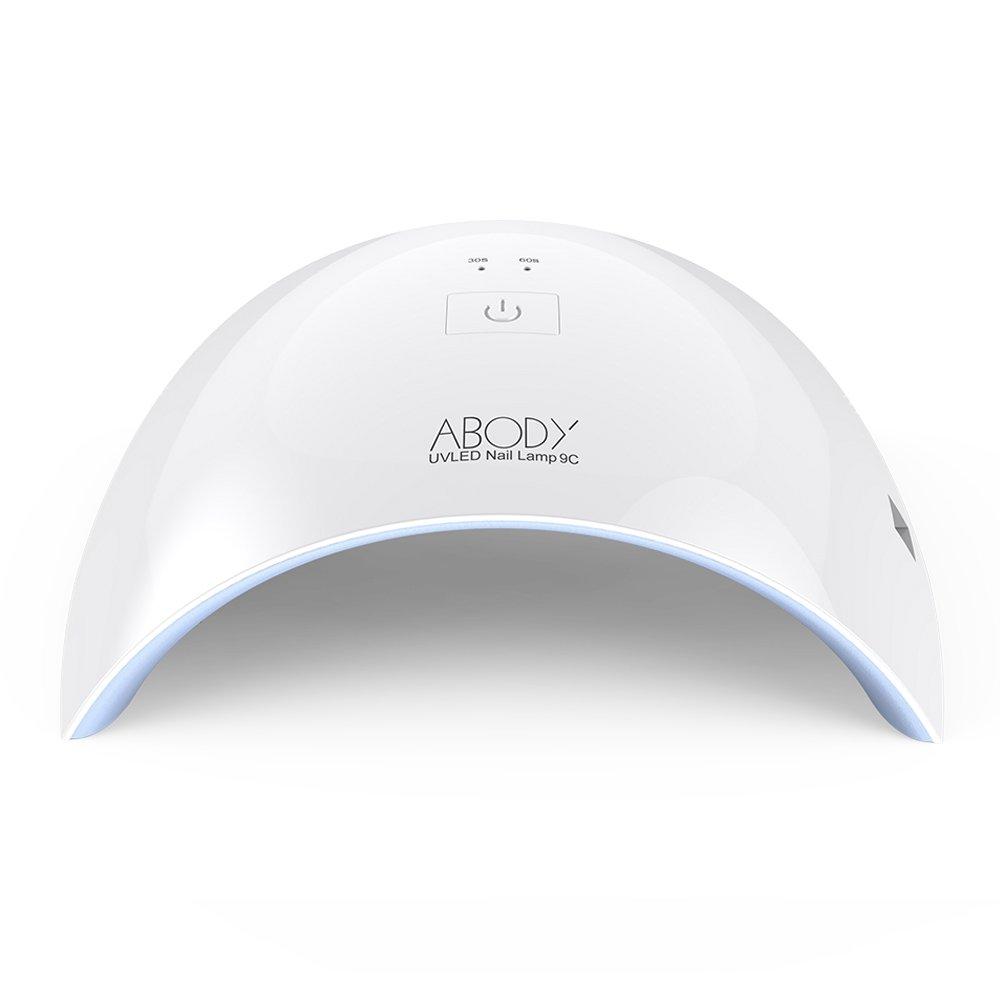 ABODY Secador de Uñas 24W Lámpara LED UV Profesional con Temporizador para UV Gel / Gel de Constructor / LED Gel Luz Blanca Enchufe EU