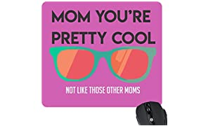 YaYa cafe Pretty Cool Mom Mousepad for Mother Birthday Gifts