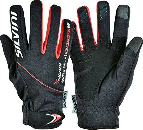 SILVINI Herren Ortles Winter Handschuhe mit Softshell Membran und Anti Rutsch Silikon Finger Riemen Schwarz - L