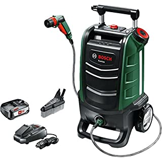 Bosch Akku Outdoor Reiniger Fontus (1 Akku, max. Druck: 15bar, 15 L Wassertank, 18 Volt System, im Karton)