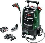 Bosch Fontus - Hidrolimpiadora de exteriores a batería (con batería y cargador, sistema de 18 voltios, máx. presión 12 bar, depósito de agua de 15 l, en caja de cartón)