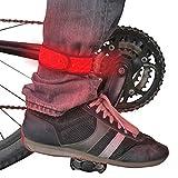 LED Sicherheit Slap Band Armband für Radfahren, Laufen, Joggen, und zu Fuß–Best Reflektierende Flip Gürtel für hohe Sichtbarkeit–Beste Safety Gear für Damen, Herren & Kinder, Pink with Red Light