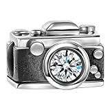 Soufeel 925 Argent Massif SWAROVSKI Cristal Vintage Camera Charm pour Charm Colliers Bracelet