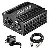 Neewer®,alimentazione Phantom, 1 canale, da 48V, colore: nero, con adattatore e un cavo XLR Audio per tutti i microfoni a condensatore e le apparecchiature di registrazione - Neewer - amazon.it