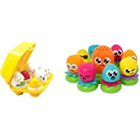 Toomies TOMY Hide and Squeak Eggs, Educational Shape Sorter Baby, Toddler & Kids Toy & TOMY Octopals Number Sorting Baby…