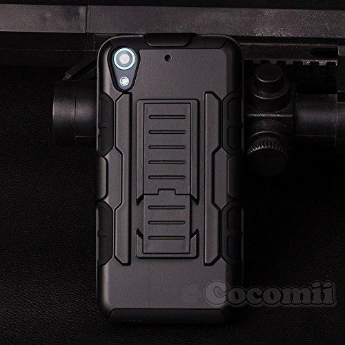 HTC Desire 626 / 626G / 626s Schutzhülle, Cocomii® [HEAVY DUTY] HTC Desire 626 / 626G / 626s Robot Case **NEUE** [ULTRA ZUKUNFT RÜSTUNG] Premium Gürtelclip-halfter Ständer Hülle [MILITARY DEFENDER] Voller Körper Robuste Dual Layer Hybrid Schutzabdeckung Cover Bumper Case [COCOMII GARANTIE] ::: Der Ultimative Schutz Vor Stürzen Und Auswirkungen Für Ihr HTC Desire 626 / 626G / 626s ::: ★★★★★ (Black/Black)