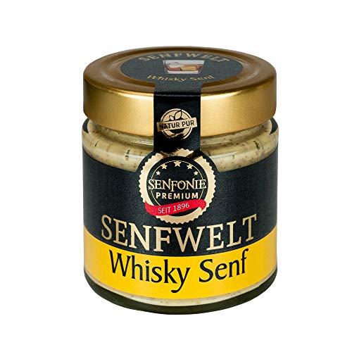 Altenburger Original Senfonie Premium Whisky Senf 180 ml, leicht körniger Senf mit Whisky verfeinert Senf