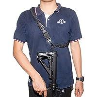 2 Punkt Gewehrriemen Single Point Sling Quick Convertible Taktische Paracord Pistole Sling Länge Einstellbar HK Haken Clips