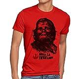 style3 Viva La Rebelion T-shirt da uomo guevara rivoluzione, Dimensione:M;Colore:rosso