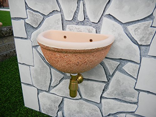 Fontane a muro adige cm40x30x20h rosa in lavato