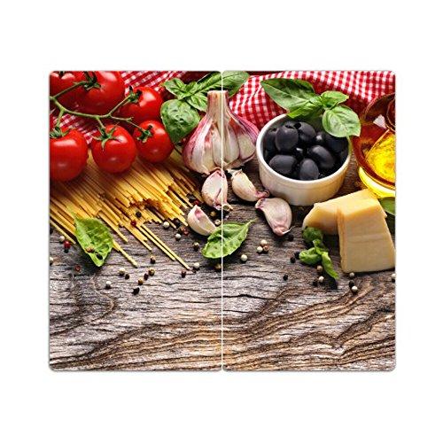 Herdabdeckplatten m. Noppen 2er-Set Schneidebrett Gemüse