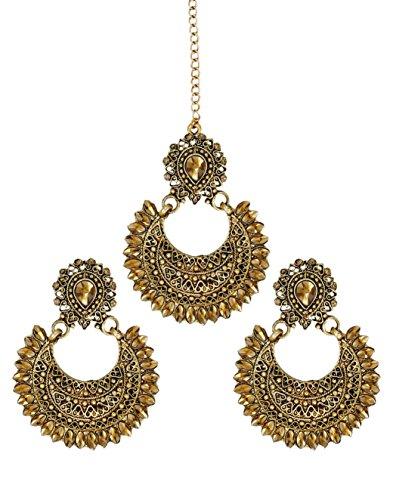 Zaveri Pearls Ring for Women (Golden)(ZPFK6087)