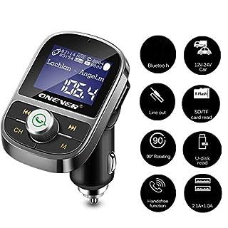 Wallfire Bluetooth Car FM Transmitter Wireless 3.1A Dual USB-Ladegerät AUX-Out MP3-Player Unterstützung Freisprechen