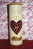 Hochzeitskerze DH-01 mit Namen & Datum Diamantene Hochzeit 60