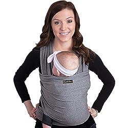 Fular Portabebé de CuddleBug - Unisex, Un tamaño para todos - Porta bebé para madre y padre - Tela 4 en 1, multiuso: portador, manta para lactancia, canguro, cinturón posparto