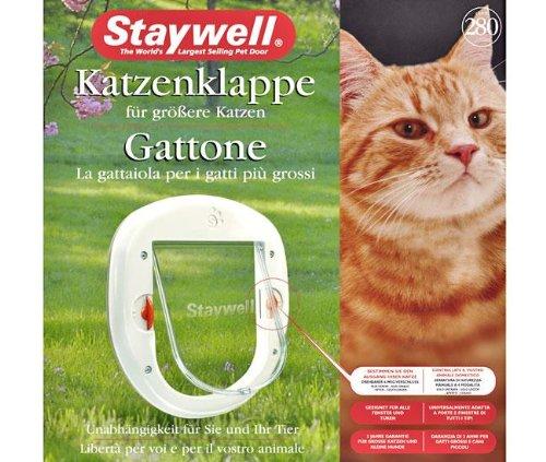 Karlie Staywell 280 Katzenklappe - Weiß, Groß, für Katzen, Haustür