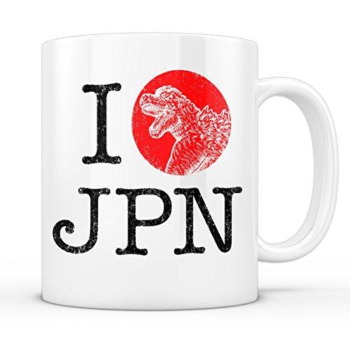 A.N.T. LOVE JAPAN Tasse godzilla japan nippon kaiju kanji tokyo (Original Godzilla Filme)