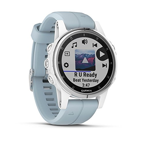 Garmin Fēnix 5S Plus Sport-Smartwatch, Weiß, 42mm