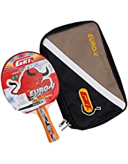 GKI Euro V Table Tennis Racquet (Multicolor)