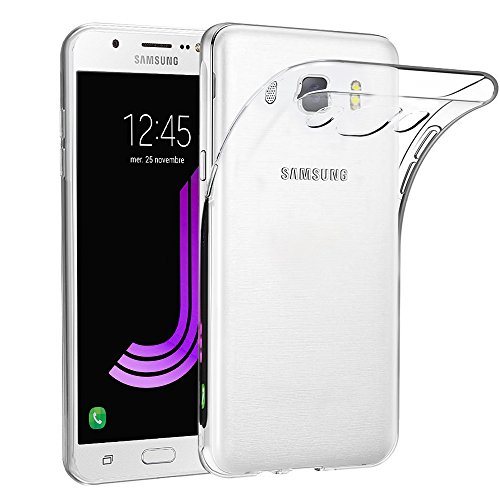 Samsung Galaxy J7 2016 Hülle Case ,Elekin Transparent TPU Case Crystal Clear Handyhülle Schutzhülle für Samsung Galaxy J7 2016