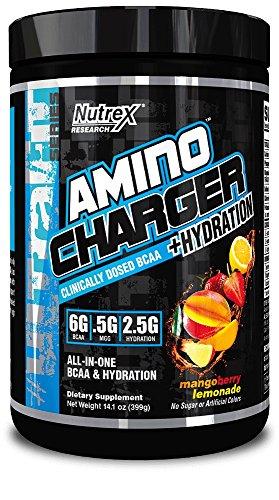 Nutrex Aminoacidi Pool-Essenziali Amino Charger Hydratation Mango Berry Lemonade - 0.5 kg - 51I9VF9GWYL