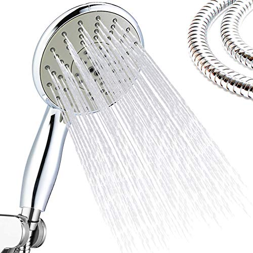 Electric Water Heater Parts Delicious Electric Water Heater Parts Silver Color Chrome Shower Head With 3 Mode Function Spray Anti-limescale Universal Handheld Home