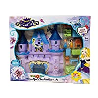 Koolbitz Large Fairy Princess Castle Toy Doll Playset w/ Lights, Sounds, Prince and Princess Figures, Horse Carriage, Castle Play House, Furniture, Accessories