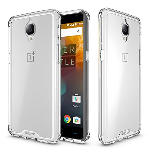 OnePlus 3 Case, elove OnePlus 3 [Crystal Clear Back] Soft Silicon Gel TPU + Hard PC [Shock Absorbing] [Light-weight] [Scratch Proof] [Slim-Fit] Bumper Case Cover for OnePlus 3 - Clear  available at amazon for Rs.199