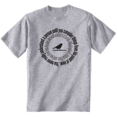 Teesquare1st Men's ATTICUS REALLY UNDERSTAND Grey T-Shirt Size Large