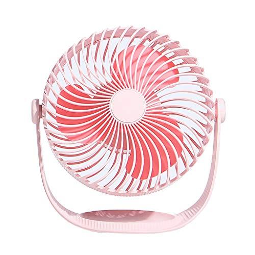 CAOQAO 2000mAh Mini-USB-Fan Fan Einstellbare Fan aufladbarer, für Haus, Büro und die Reise, Spaziergang, Wandern, Camping, Rose