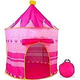 aGreatLife® Pinkfarbenes Schloss Zelt für Mädchen - Indoor Oder Outdoor Zelt für Kleine Prinzessinnen