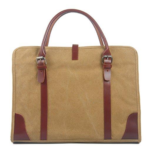 Borsa Da Uomo In Tela Borsa A Tracolla Casual Da Uomo In Messenger Bag Con Tracolla Color Kaki