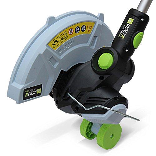 Alices-Garden-VOLTR-AutonoMAX-40V-Dbroussailleuse-30cm-sans-fil-Coupe-bordures-lectrique–roulettes-avec-batterie-Samsung-Lithium-25Ah-chargeur-deux-bobines-double-fil-manche-tlescopique-Normes-CE