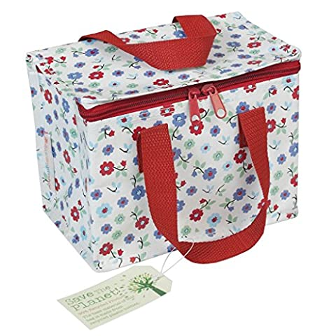 Insulated Lunch Bag - Choice Of Floral Design ( Forget Me Not )
