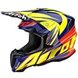 CASCO CROSS TWIST EVIL ORANGE GLOSS AIROH NEW 2016 TG S
